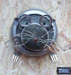 Mirette ....une taupe s'est introduite dans la cuisine de la boutique Lesfondsdetiroirs sur Etsy