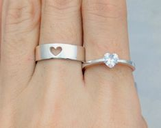 Promise Rings For Couples Promise Rings Couple Rings by JewelryRB