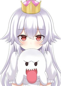 "I would like to submit the fact that ""Booette"" would sound silly and if no one has suggested it yet she simply be called ""Boo-chan"". Anime Girls, Anime Art Girl, Manga Girl, Manga Anime, Loli Kawaii, Kawaii Anime Girl, Game Character, Character Design, King Boo"
