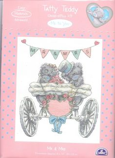 "NEW DMC Tatty Teddy Teddy Cross Stitch Kit BL1082/72 ""Mr & Mrs"" in Crafts, Cross Stitch, Cross Stitch Kits | eBay"