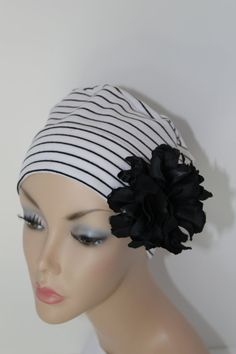 Chemo Hat Cancer Cap Sleep Alopecia Female by ThePinkScarab, $12.00