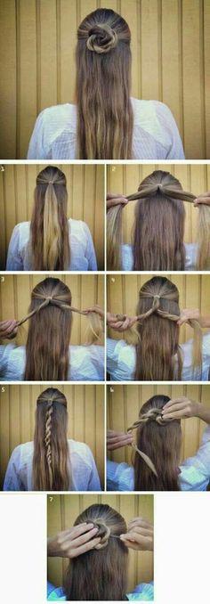 Half twisted bun