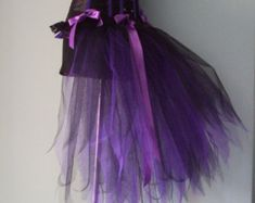 French Navy Blue Purple Peacock Burlesque Tutu by thetutustoreuk