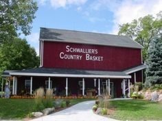 Sparta Mi: Schwallier's Country Basket on BEST Apple Cider and Donuts! Fun place for children. Sparta Michigan, Best Apple Cider, Corn Maze, Kids Play Area, Buy Local, Country Farm, Animal House, Picnic Table, Farm Life