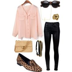 A fashion look from November 2012 featuring chiffon top, stretch jeans and leather shoes. Browse and shop related looks.