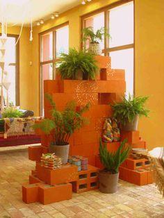 Painted Cinder Block Garden