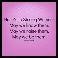 Re-pin if you are or know of a strong woman too!  #womencandoanything #strong