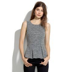 Madewell - Sleeveless Sweatshirt Peplum Top