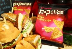 grilled chicken cemitas and garlic-chipotle love with salsa tortilla #popchips