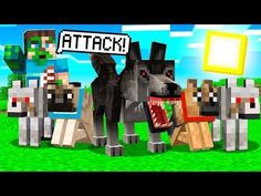 THE WORLDS MOST POWERFUL MINECRAFT WOLF PACK!