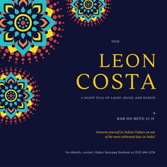 hoje leon costa a night full of light, music and dance! 9 bar do be...