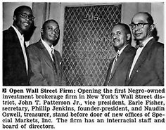 Opening of 1st Negro Owned Investment Brokerage Firm on Wa…   Flickr