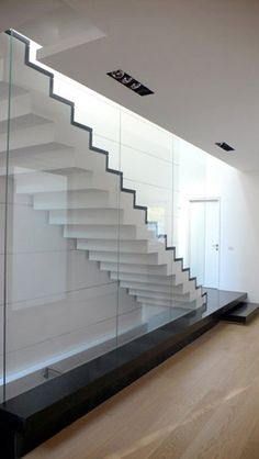 :: STAIRS :: INTERIORS stair detail designed by Pitsou Kadem architect #stairs #interiors