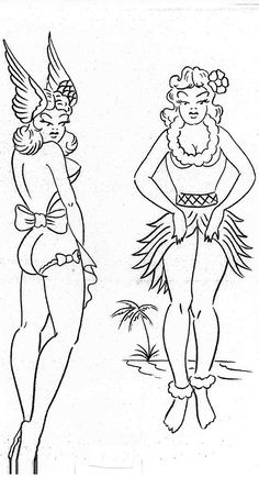 Sailor Jerry& iconic pin-up girls have carried on the SJ legacy throughout the years. Take a look at some hula dancers, geishas and pirates that have kept the legend going strong! Pin Up Girl Tattoo, Pin Up Tattoos, Funny Tattoos, Tatoos, Movie Tattoos, Key Tattoos, Skull Tattoos, Foot Tattoos, Sailor Jerry Tattoo Flash
