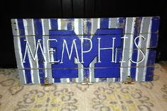 University of Memphis Wood Sign