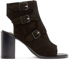 Rag and Bone Black Suede Marta Boots