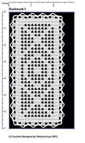 Ravelry: FREE-Filet crochet Bookmark-1 pattern by Viktoria-Lyn