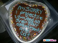 10 Strangely Specific Apology Cakes