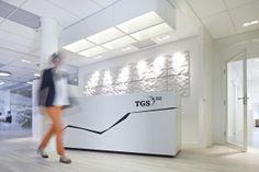 TGS - Prosjektering og innredning av kontor - Areal: 1100 m2 -Ferdigstilt: 2012 -interiørarkitekt