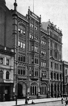 Former Royal Insurance Company on Collins St, - built demolished 1938 for new art deco building - in turn replaced by curtain wall facade - 416 Collins St (nth side, opposite Market St intersection) Australian Architecture, Classical Architecture, Historical Architecture, Oz Architecture, Renaissance Architecture, Vintage Architecture, Ancient Architecture, Victorian Buildings, Old Buildings