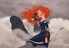 """Merida"" (by ~Hito76 on deviantART)"