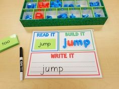 "This is a GREAT center to have students practicing their sight words! Use the ""Read It, Build It, Write It"" work mat along with some or all of the 220 Dolch sight word cards. Print as many work mats as you need for students. Sight Word Centers, Sight Word Games, Spelling Centers, Dolch Sight Words, Spelling Words, Spelling Games, Daily 5, Plastic Letters, Foam Letters"
