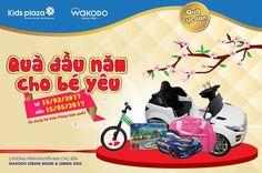 #Khuyenmai_KidsPlaza  💢 QUÀ TẶNG ĐẦU NĂM CHO BÉ YÊU  💥 NHẬN NGAY QUÀ CỰC LỚN KHI MẸ TÍCH SỮA WAKODO  ----------------------------------  🌺 Wakodo thương hiệu sữa Nhật Bản, được rất nhiều bà mẹ tin dùng trên thế giới  🌺 Để TRI ÂN khách hàng đã tin tưởng, Wakodo triển khai chương trình KHUYẾN MẠI cho WAKODO LEBENS MOM VÀ LEBEN KIDS với những phần quà cực HẤP DẪN  👉 TẶNG NGAY một trống lắc CỰC XINH khi mẹ giật 1 đai nhựa lon 300g  👉 Có 1 đai nhựa lon 850g bé CÓ NGAY ô tô nhựa + hộp chia…