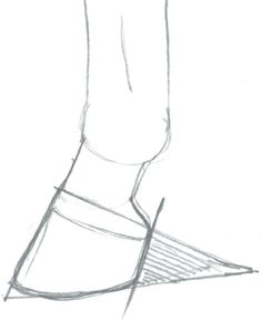 Instead of the whole body were just focusing on the hoof. It shows that using a triangle from the bottom haft to the hoof part is a good guide in getting the shadow from behind to the front hoof helps with the shape of the lines.