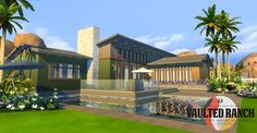 Sims 4 CC's - The Best: Vaulted Ranch: An MCM-Inspired Build Set by Peacem...