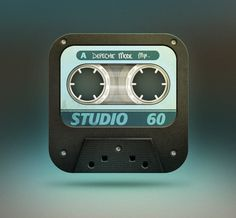 Iphone icon-casette tape on the Behance Network