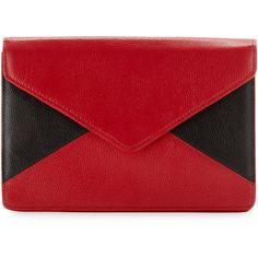 Lenox Colorblock Envelope Clutch, Black/Red found on Polyvore