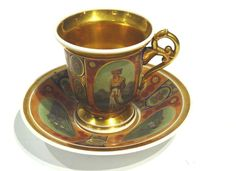 Empire Porcelain Cup and Saucer  for Turkish Martket