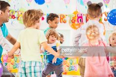 Stock Photo : Playful children at Birthday party.