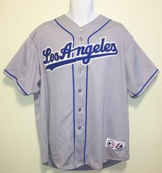 1ebb490b953 MLB RARE Los Angeles Dodgers Majestic Road Team Jersey - Gray Mens XX  Large   39.00