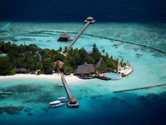 Aerial view of Komandoo Island Resort