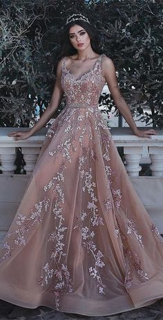Wanna Evening Dresses,Prom Dresses in Tulle, A-line style, and delicate Appliques work? Babyonlinewholesale has all covered on this elegant Romantic V-neck Sleeveless Champagne Pink Prom Dresses Appliques Dresses Elegant, Pretty Prom Dresses, Pink Prom Dresses, Quinceanera Dresses, Formal Dresses, Dresses Dresses, Mauve Prom Dress, Cheap Pageant Dresses, Fairy Prom Dress