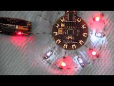 ▶ Lilypad Arduino & Heartbeat from Pulse Sensor - YouTube