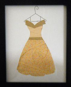 paper iris folded dress