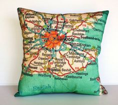 Map pillow... What place to possibly choose?