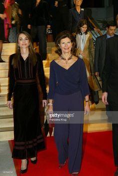 Königin Rania Von Jordanien Und Königin Silvia Von Schweden Bei Der... News Photo | Getty Images