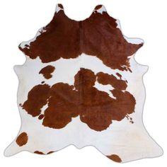 Pure Brown & White Cowhide Rug – Rodeo Cowhide Rugs