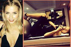 Sportliche Stars: Lena GerckeWer fit sein will, muss fleißig trainieren. Dieses Motto scheint sich auch Model Lena Gercke für 2014 zu