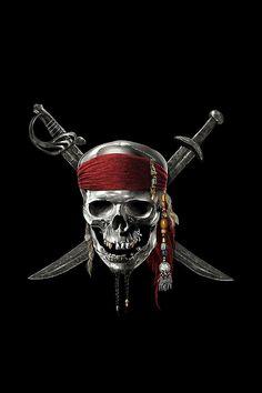 Pirate Tattoo, Pirate Skull Tattoos, Cartoon Wallpaper Hd, Joker Wallpapers, Skull Wallpaper, Caribbean Art, Pirates Of The Caribbean, Jack Sparrow Wallpaper, Jack Sparrow Tattoos