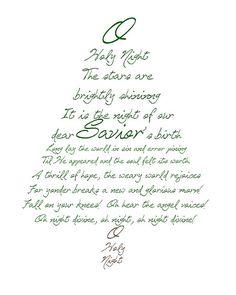 O Holy Night Christmas Tree Printable. My favorite Christmas song. All Things Christmas, Winter Christmas, Christmas Holidays, Merry Christmas, Christmas Decorations, Christmas Ideas, Christmas Poster, Christmas Quotes, Green Christmas