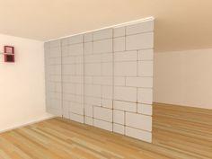 Divisor Separador De Ambiente Vintage - $ 1.800,00 en MercadoLibre Room Divider Doors, Room Divider Curtain, Room Interior, Interior Design, Space Dividers, Divider Design, Ideas Para Organizar, Ideas Hogar, Bed Wall