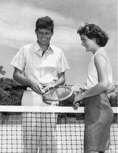 Jacqueline y John Fitzgerald Kennedy