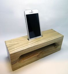 Wooden Acoustic Amplifier Speaker Dock for iPhone 5S 5 Cradle Stand Rectangle | eBay