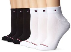 Tommy Hilfiger Women's 6-pack Sporty Athletic Sock, Multi, One Size