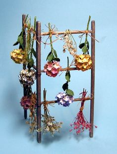 DIY Dollhouse Miniatures by Joann Swanson - a drying rack plus many other wonderful tutorials