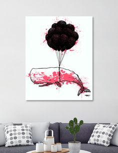 Discover «99LuftWhale_Panther», Limited Edition Canvas Print by Krispin Stock - From $75 - Curioos